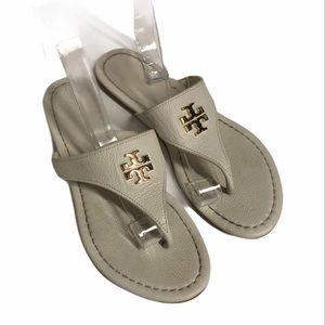 Tory Burch cream Jolie flip flops